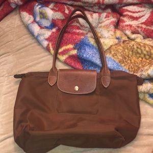 Brown long champ bag